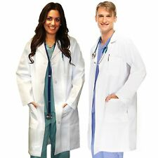 White Lab Coat Medical Unisex Doctor Coats Jackets Nursing Men Women Long XS-3XL