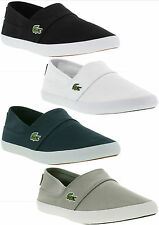 Lacoste Marice LCR SPM Mens Canvas Slip On Trainers Shoes Sizes UK 7 - 12