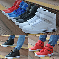 Men's High Top Velcro Skateboard Sneakers Athletic Running Shoes Ankle Boots