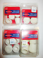 4 PACK Rubber Leg Tip White Chairs, Tables, Furniture, Walking Stick, Cane