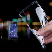 Ultra-thin Transparent Gel Case Cover For Sony Xperia Z1 Z2 Z3 Compact T2 M2 C3
