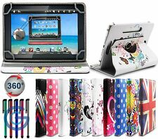 "360° UNIVERSAL LEATHER STAND CASE COVER FOR 7"" 7 Inch Tab Tablet Android PC APAD"