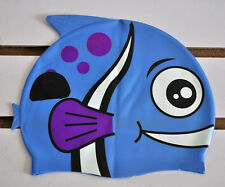 Reliable Fine Lovely Cartoon Fish Style Pure Silicone Swimming Cap Swim Hat TBCA