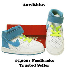 NIKE SON OF FORCE MID BABY TODDLERS GIRLS SHOES US 4 5 6 7 8 9 &10 WHITE BLUE