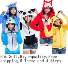New Pikachu Stitch Ali Bear Cosplay Hoodies Hoody Sweatshirt Jacket Coat Costume
