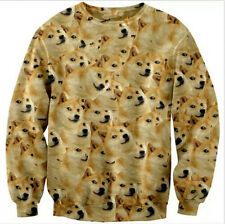 1pcs Hot Doge Wow Such Face Much Meme DOG Reddit Long Sleeve Tee Tops T-Shirt