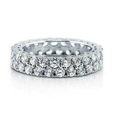 BERRICLE Sterling Silver Round CZ Anniversary Eternity Band Ring 2.88 Carat