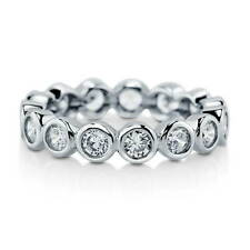 BERRICLE Sterling Silver Cubic Zirconia CZ Bubble Eternity Ring 1.54 Carat
