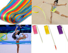 Dance Ribbon Gym Rhythmic Art Gymnastic Ballet Streamer Twirling Rod 8 Color