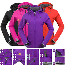 NEW Women Ladies Waterproof Breathable Soft Shell Ski Outdoor Hiking Jacket
