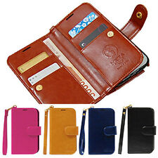 Samsung Galaxy Note2 GT-N7100 Hera two-side Double Wallet Phone Case cover Strap