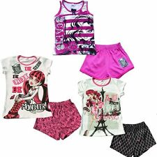 Girl Outfit Nightgown Pajamas 5-14Y Sleepwear Shirt Shorts Sets New Monster High