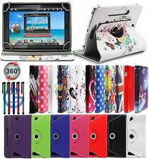 "360° UNIVERSAL LEATHER STAND CASE COVER FOR VARIOUS 7"" Tablet Android Tab PC"