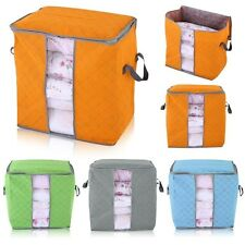 New Foldable Buggy Storage Bag Clothes Blanket Quilt Toys Organizer Box Pouch