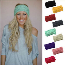 NICE Crochet Headband Knit Hairband Flower Winter Women Ear Warmer Headwrap