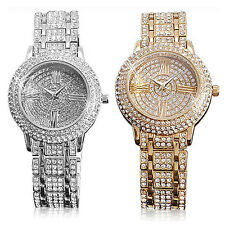 Alias Kim 2 Colors Full Bling Crystal Jewelled Womens Quartz Wrist Watch Lxuury