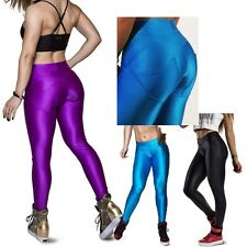 Fashion Women's Contrast Push Up Slim Yoga Pants Sport Gym Stretch Legging M/L