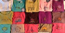Life is Good Women's Long-Sleeve T-Shirts Many Colorful Patterns New MSRP $32