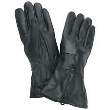 Diamond Plate Genuine Solid Leather Motorcycle Gloves. Cuffed, Insulated NEW!