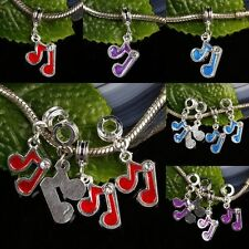 Red/Blue/Purple Musical Note Austrian Crystal Loose Beads Fit EP Charms Bracelet