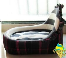 Grey Grid Top Winter Pretty Dog Cat Bed perfect for pet House Sofa Bed Washable