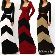 Kaftan Abaya Islamic Muslim Evening Women Long Sleeve Vintage Maxi Dress & Belt