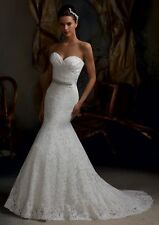 New white/ivory Lace wedding dress bridal gown Stock size 6 8 10 12 14 16