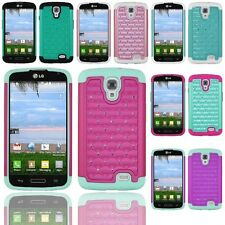 For LG Access LTE L31G / F70 4G D315 Hybrid Hard Diamond Case Skin Phone Cover