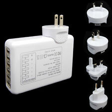 3-6 Ports USB AC Adapter US/AU/EU/UK Plug Wall Travel Charger for iPhone Samsung