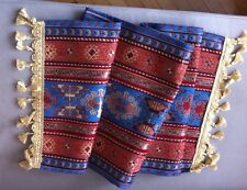Turkish Anatolian Kilim Patterned Table Runner&Tassels 140x45cm Handmade Jaquard