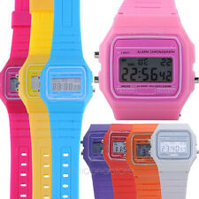 Mens Womens Unisex Sports Digital Watches Alarm Day&Date Silicone Wrist Watch HJ