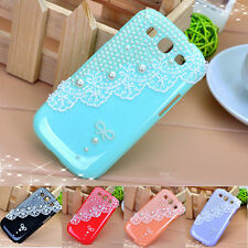Luxury Bling Pearl Lace Design Hard Back Cover Case For Samsung Galaxy S3 I9300