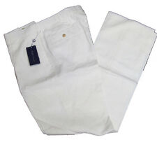 Ralph Lauren Purple Label Solid Cream Linen Italy Casual Dress Slacks Pants New