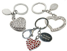 Personalised Heart Shaped Keyring, Engraved Valentines Wedding Mothers Day Gift