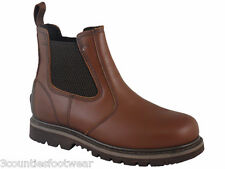 STEEL TOE DEALERS - LEATHER CHELSEA WORK BOOTS - EU SAFETY STANDARD - FREE P&P