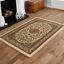 NEW ELEGANT TRADITIONAL CLASSIC BEIGE COLOUR SMALL MEDIUM LARGE EXTRA LARGE RUGS