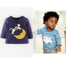 New ex Boden Cow & Moon or Striped Ambulance Long Sl Jersey Top 0-24 m 2-3years