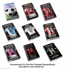 Personalised Football On This Day Book -Top Teams Available - Add Name & Message