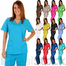 Medical Nursing Men Women Adjustable Scrub Set Top Pants Hospital Clinic Uniform