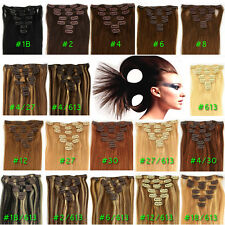 """WHOWMERRY~15""""18""""20""""22"""" REMY CLIP IN HUMAN HAIR EXTENTIONS ,BLACK,BROWN,BLONDE~"""