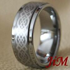 Mens Tungsten Carbide Wedding Band Ring Brushed Anniversary Jewelry Size 6-15