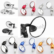 "Motorcycle ATV 3""CNC Aluminum 7/8"" Clamp On Handle Bar End Rearview Side Mirrors"