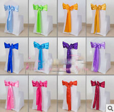 19 color Satin Chair Cover Sash Bow Wedding Party Supplies Decoration Wholesale