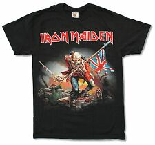 "IRON MAIDEN ""TROOPER BIG PRINT"" BLACK T SHIRT NEW ED OFFICIAL ADULT"