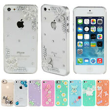 Luxury Bling Crystal Diamond Rhinestone Hard Case Cover For Iphone 4 4S 5 5S