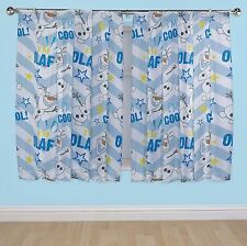 """DISNEY FROZEN CURTAINS OLAF DESIGN CHOOSE FROM 54"""" OR 72"""" DROP LENGTH FREE P+P"""