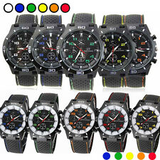 Men's Fashion Black Stainless Steel Luxury Sport Analog Quartz Wrist Watch