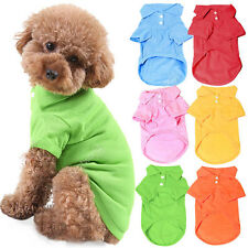 New Cute Puppy Cat Dogs Pet Polo T Shirt Apparel Outfit Clothes Coats
