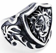 Gothic Lion-king Fashion Men'S 316L Stainless Steel Ring US Size8 9 10 11 12