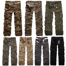 New Mens Army Cargo Camo Combat Long Trousers Camouflage Pants